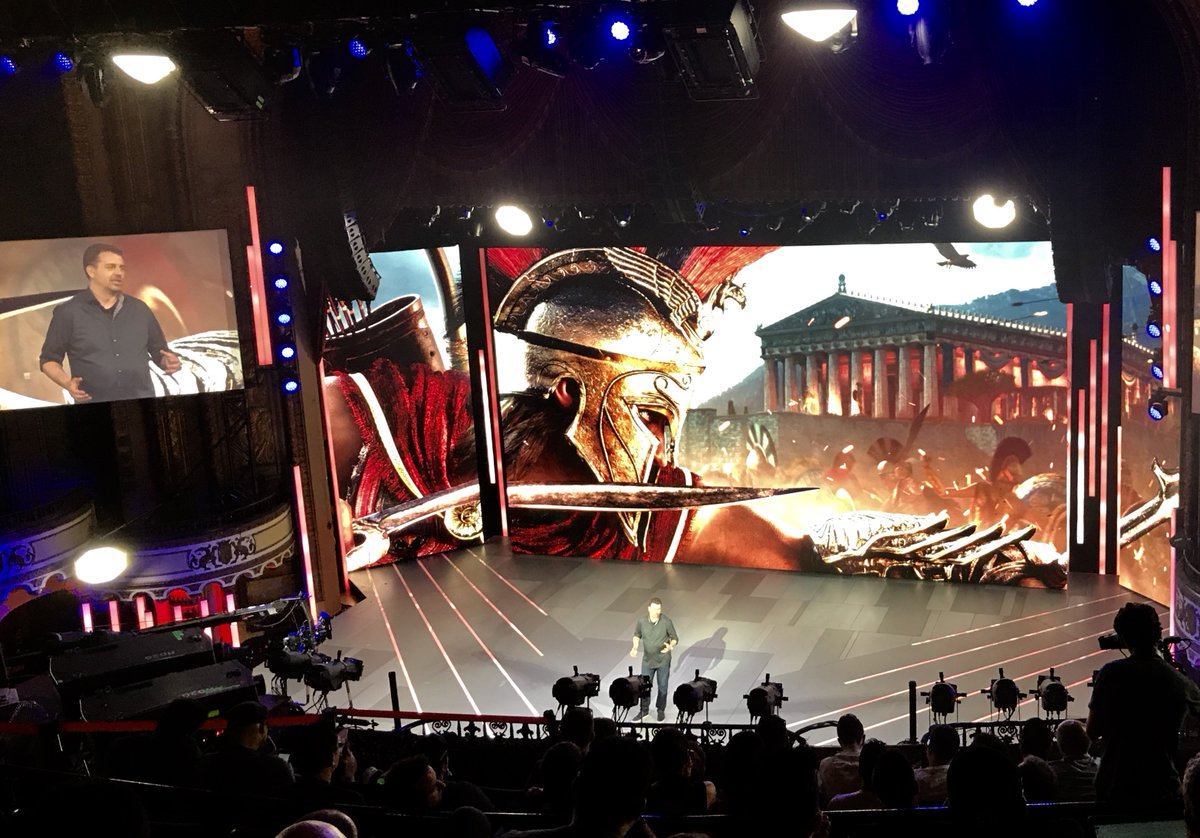 Travel back in time to 431 BC with Assassin's Creed Odyssey.  The #UbiE3 game arrives Oct. 5.  #E3 #E32018
