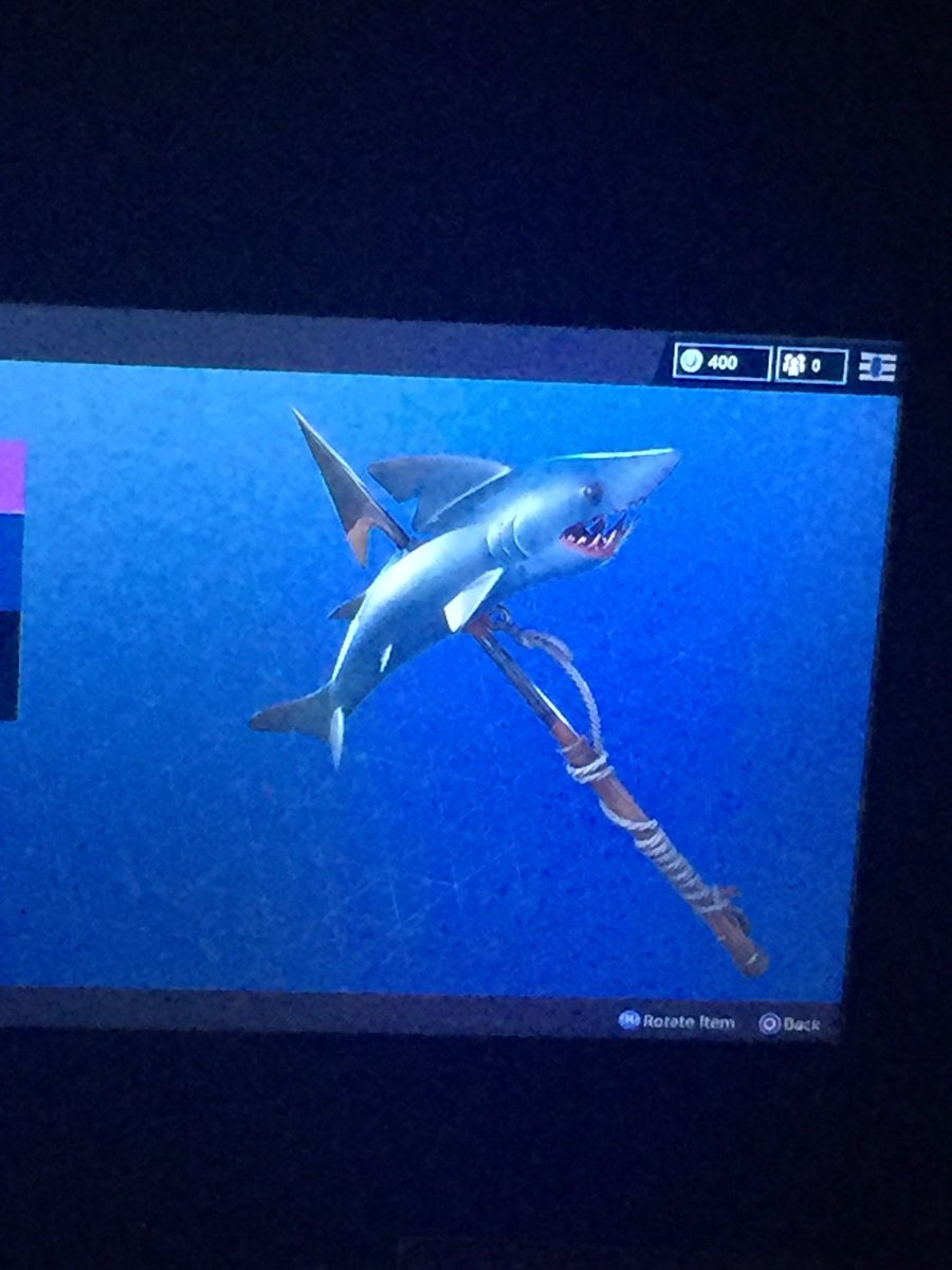 i see you epicgames bringing in the shark pickaxe thanks for that but i ain - shark pickaxe fortnite