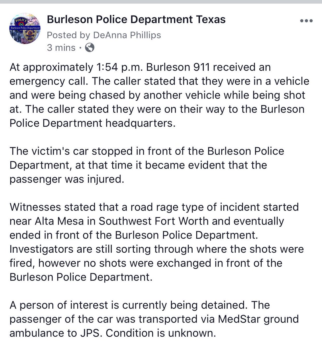 BurlesonPolice photo
