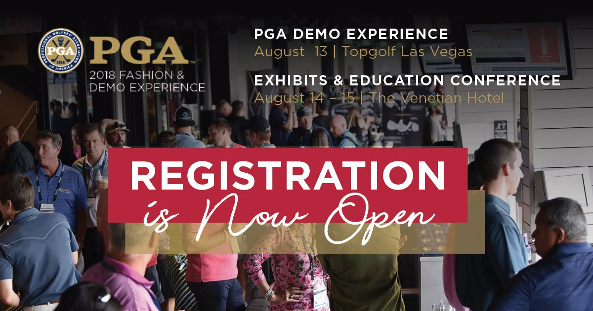 Pga Golf Shows On Twitter Registration Is Now Open Explore Golf S Top Fashion Brands New Apparel Lines Trends At The 2018 Pga Fashion Demo Experience In Las Vegas Nevada Register