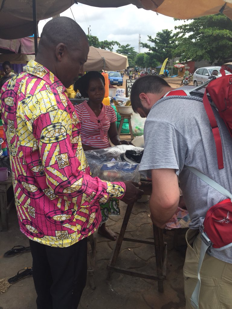 Pre-expedition marketing in Cotonou, Benin