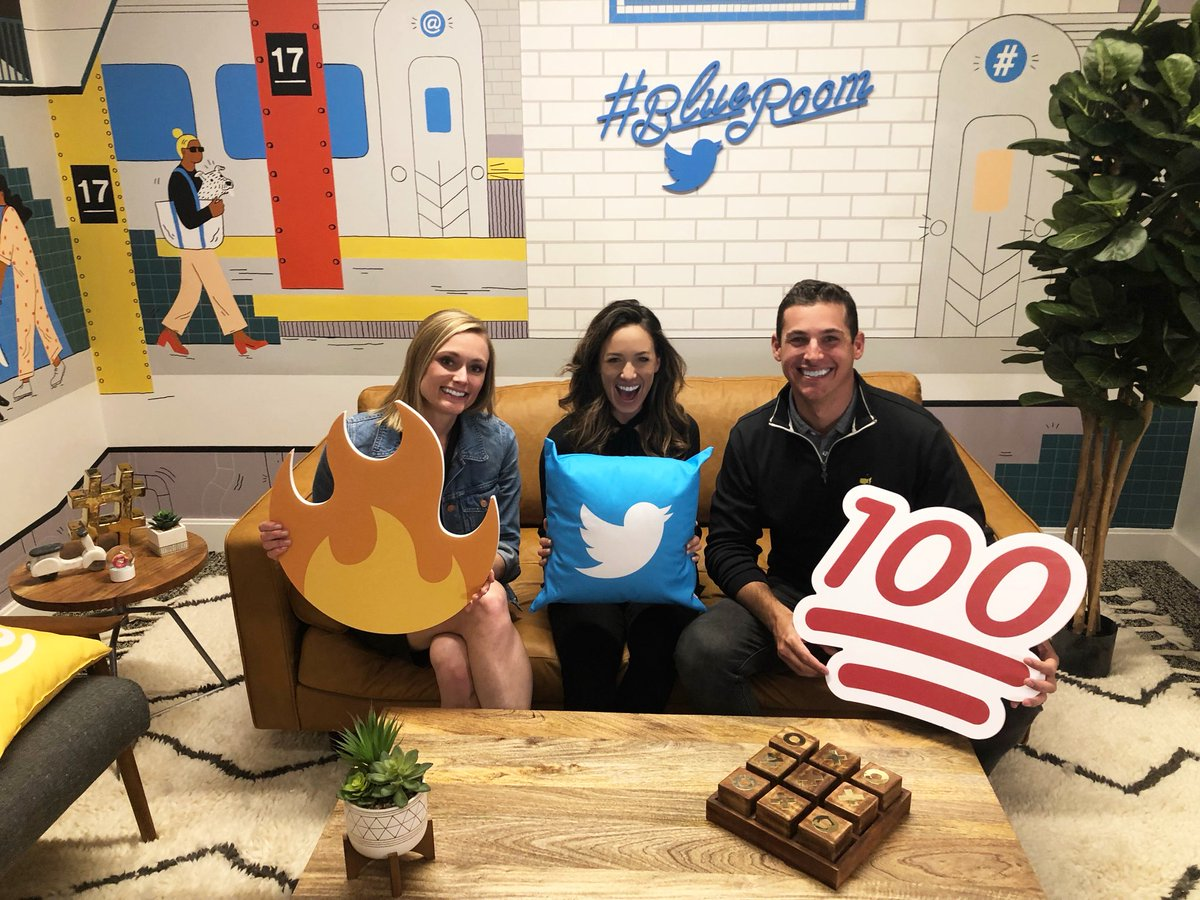 @ChantelMcCabeGC @TwitterNYC @JulieMayville @Dupree re: The @TwitterNYC HQ is 🔥💯 From the #blueroom to the cafeteria (with beer and rosé on tap) this place is amazing and has some pretty cool people (who play golf) @JulieMayville @Dupree > Fun characters! 😉 ⛳ 🍻 cc @leslieberland @GolfChannel @jack
