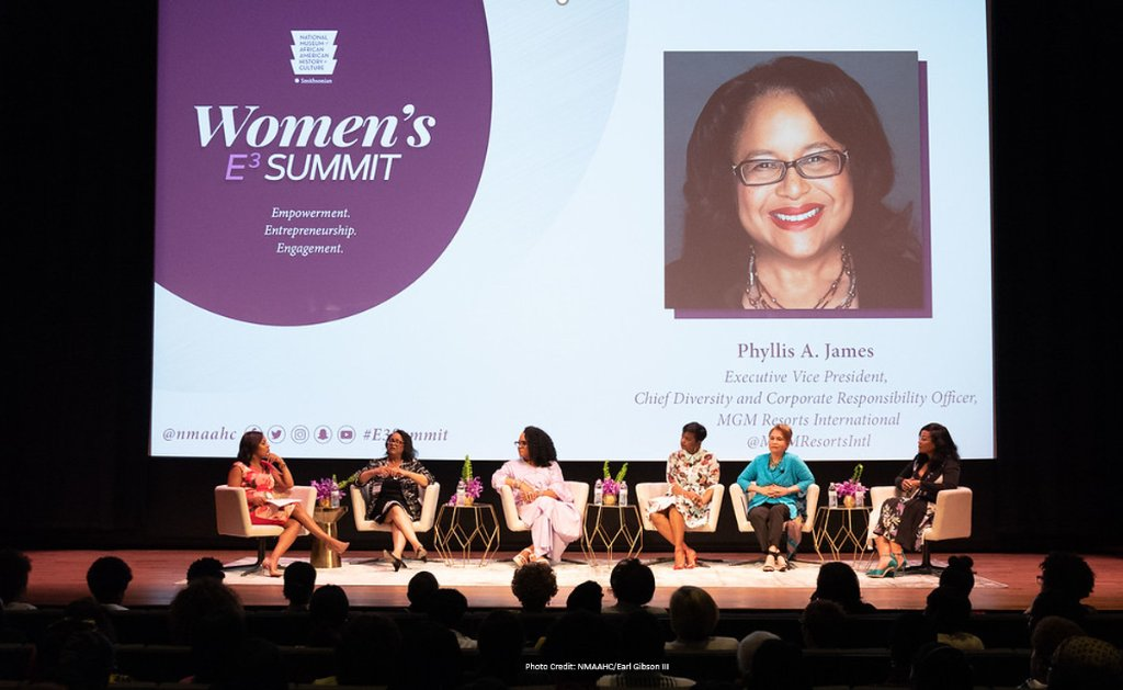 Chief Diversity & Corporate Responsibility Officer Phyllis James spoke on the @nmaahc Inaugural Womens #E3Summit panel keynoted by @Oprah Winfrey. The panel centered around the three E's—Empowerment, Entrepreneurship and Engagement of women in business. #WatchingOprah