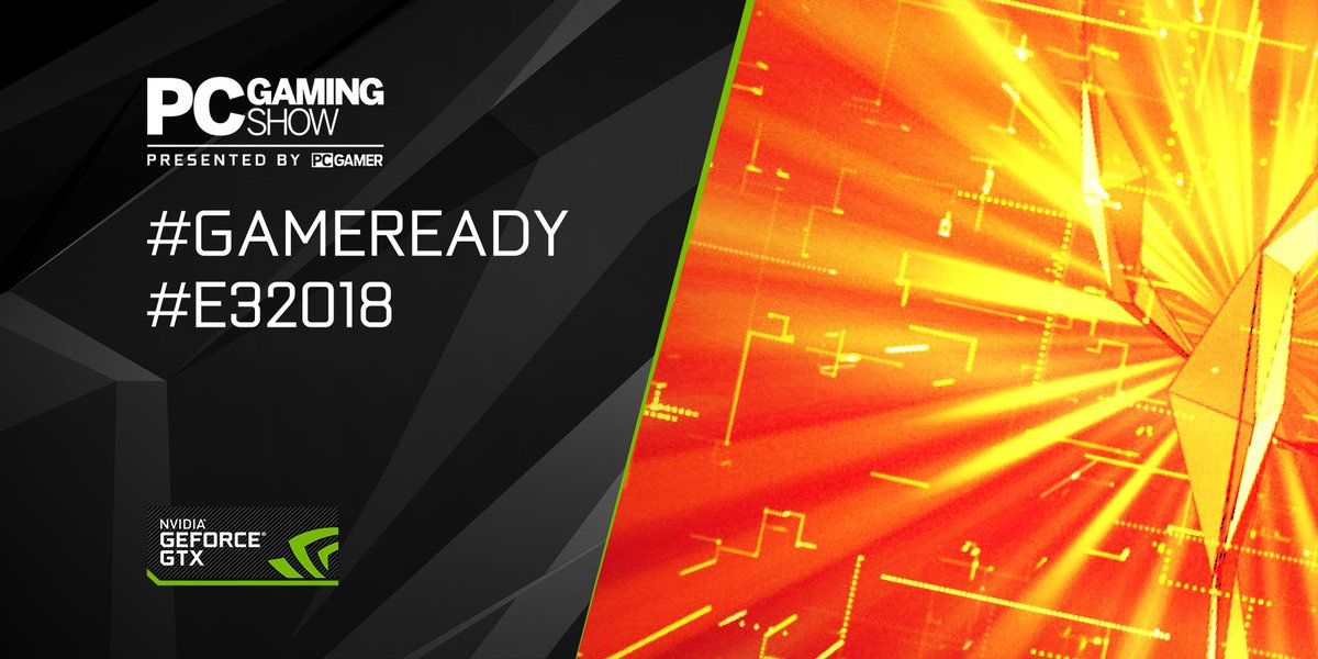 PC Gaming. Yeah, were kinda into that. The #PCGamingShow is starting now! Get in here! #GameReady #E32018