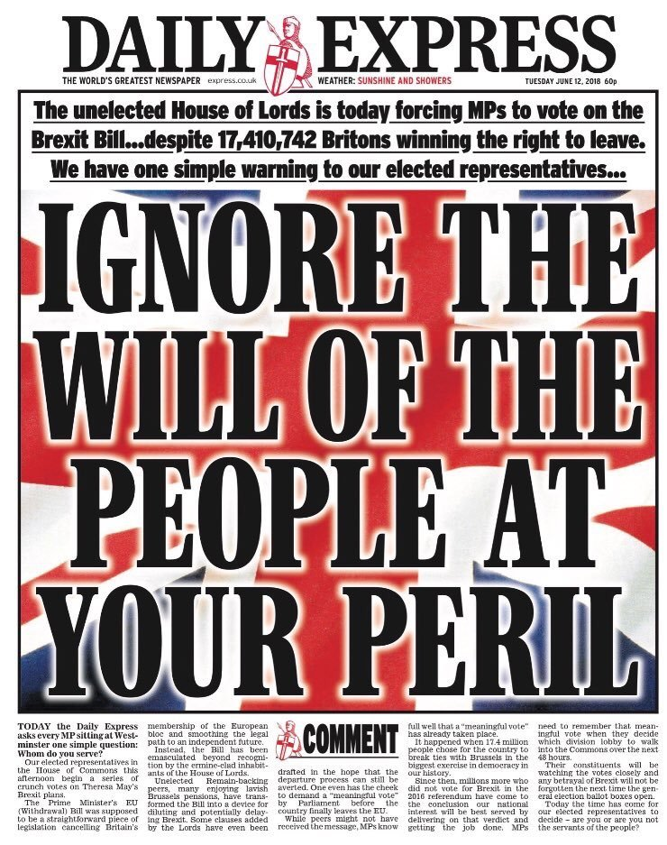 the will of the people Brexit is not the will of the british people - it never has been the referendum vote for brexit was clear: the electorate was 46,501,241, leave was 17,410,742 and remain was 16,141,241 the uk public actually did not, does not and will not want a brexit in the f.