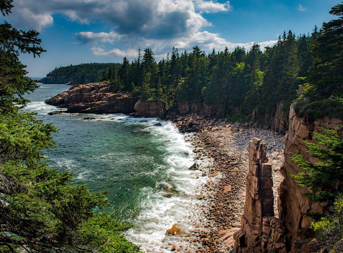 Experience a lifetime of beauty in a day @AcadiaNPS. Pic by Stan Dzugan #Maine #FindYourPark