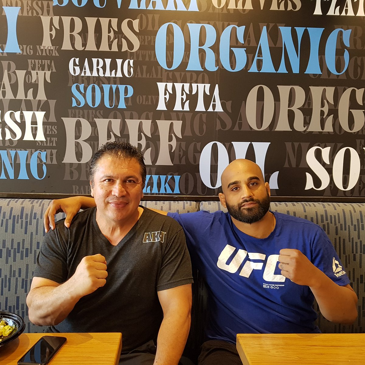 Had a great lunch with team AKA founder and head coach @akajav. This guy has welcomed me with open arms since the day I stepped into his gym and has built an army of champions over the years. We will continue to work together on the quest to the top @ufc #grateful #TeamBhullar