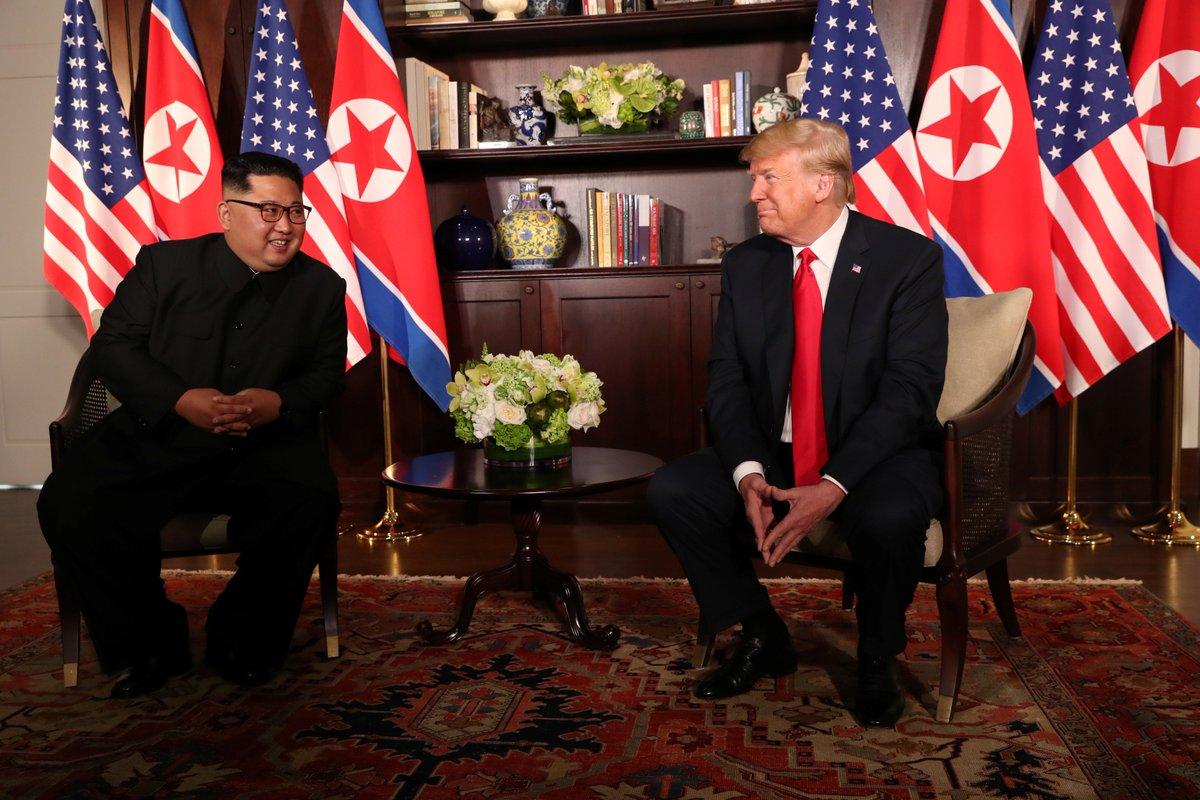 Kim y Trump conversaron en Singapur