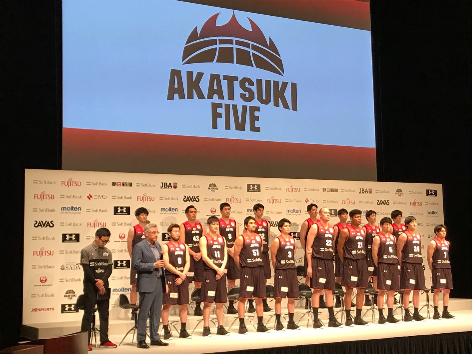 Press conference for WCQ Window3 in Shinagawa. #FibaAsia #AKATSUKIFIVE https://t.co/H0aKL3BQ37