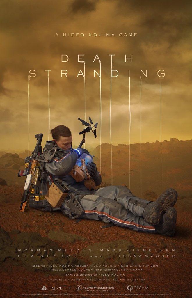 Norman Reedus is featured in this new #DeathStranding key art by @HIDEO_KOJIMA_EN! #PlayStationE3 #SonyE3