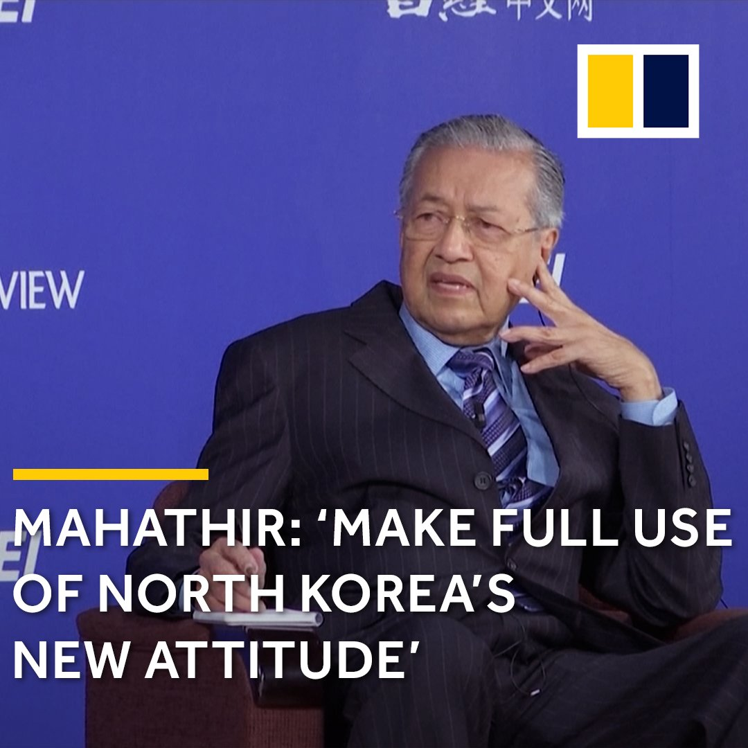 The world should not be cynical of North Korea's 'new attitude', says Malaysian PM Mahathir. https://t.co/CwPGgvwlSM