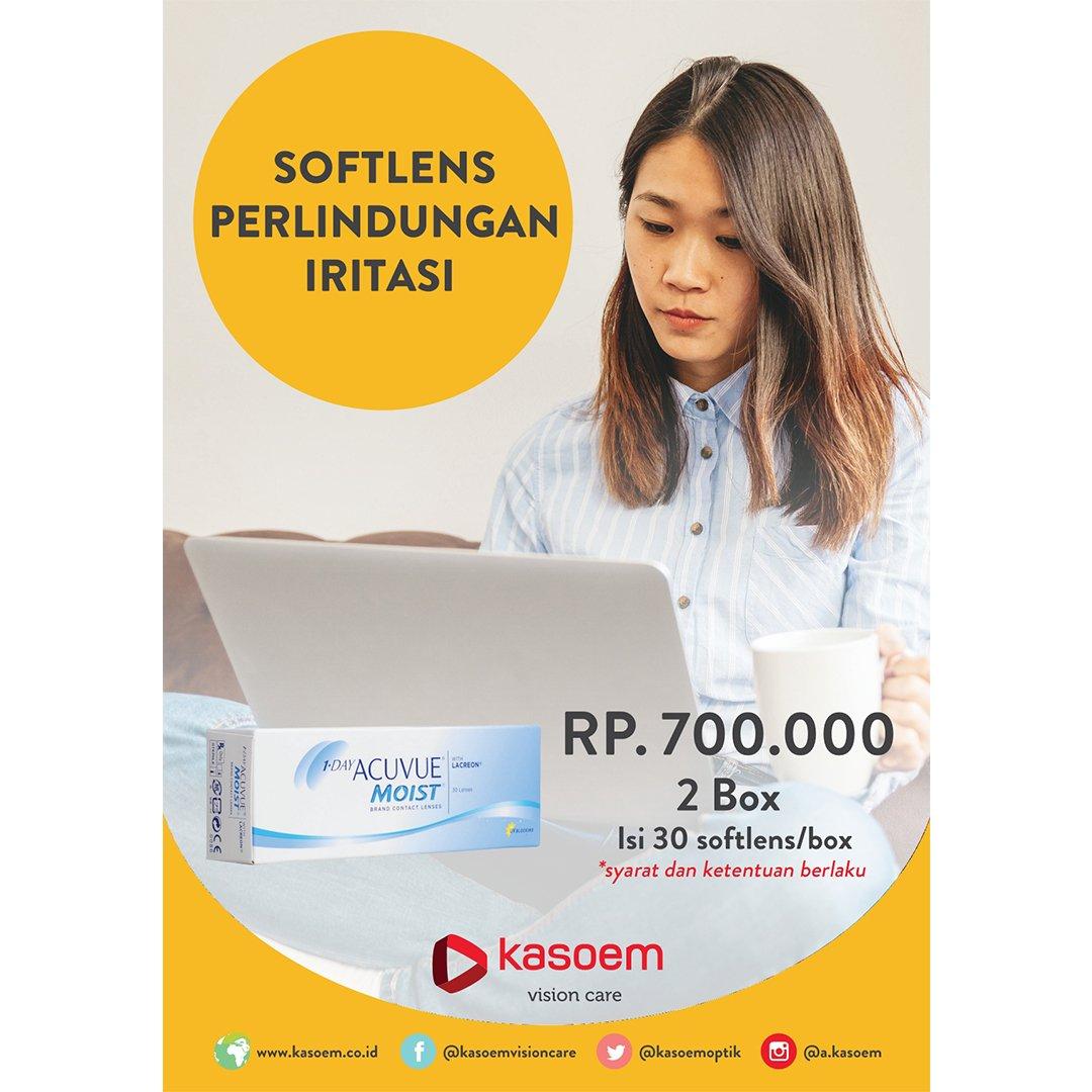 Promo  lensakontak Acuvue Moist Rp700.000 dapat 2 box di Kasoem Vision Care  cabang 436f47951c