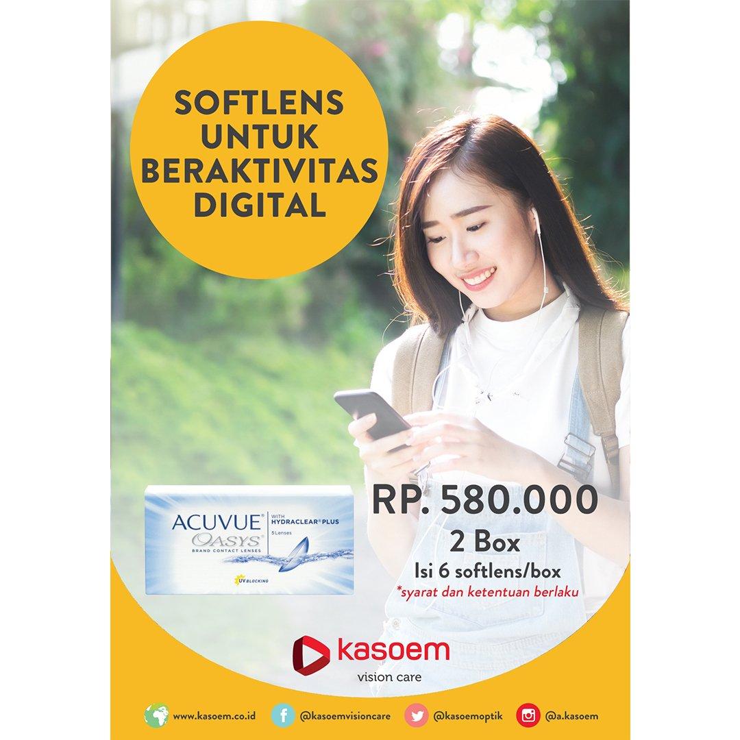 Promo  lensakontak Acuvue Oasys Rp580.000 dapat 2 box di Kasoem Vision Care  cabang b570939ad1