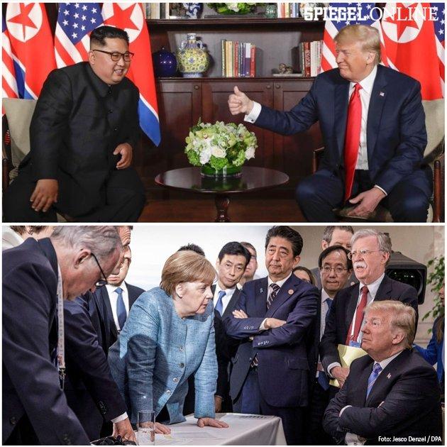 Eine Woche, zwei Bilder. #Trump #TrumpKimSummit