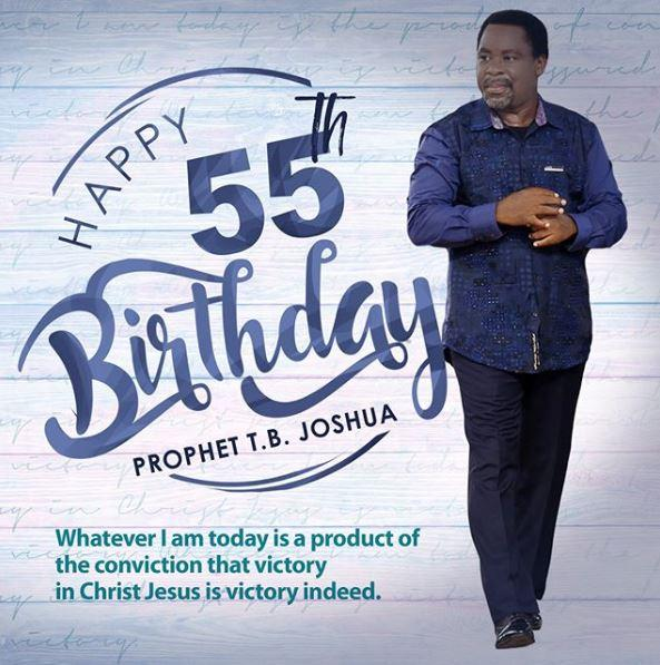 Happy birthday to (Prophet T.B Joshua). Continue to grow from grace to grace.