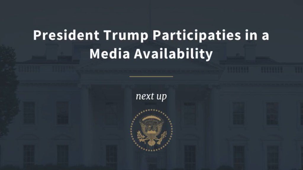 COMING UP: President Trump Participates in a Media Availability https://t.co/ZHKNdEgYTw #SingaporeSummit https://t.co/TkRT0vGJdk