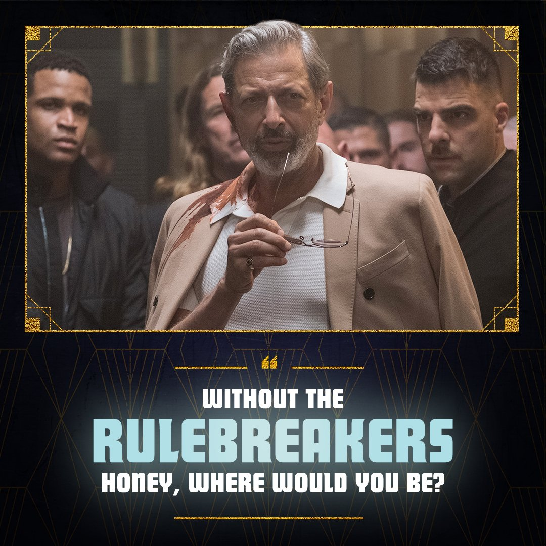 Jeff Goldblum: big boss man, big bad Wolf King. Check into his #HotelArtemis, now in theaters everywhere. Get tickets at bit.ly/hotelartemistix