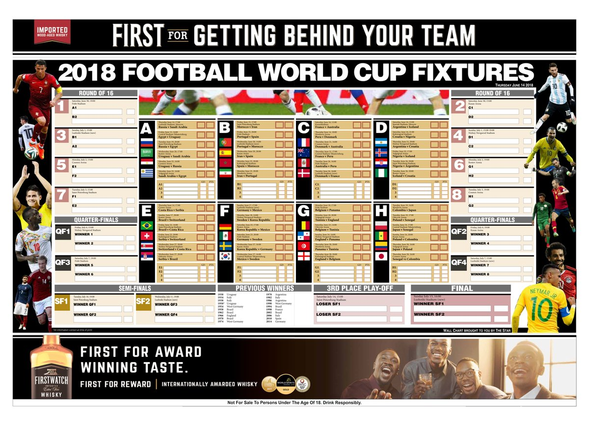 world cup fixtures wall chart