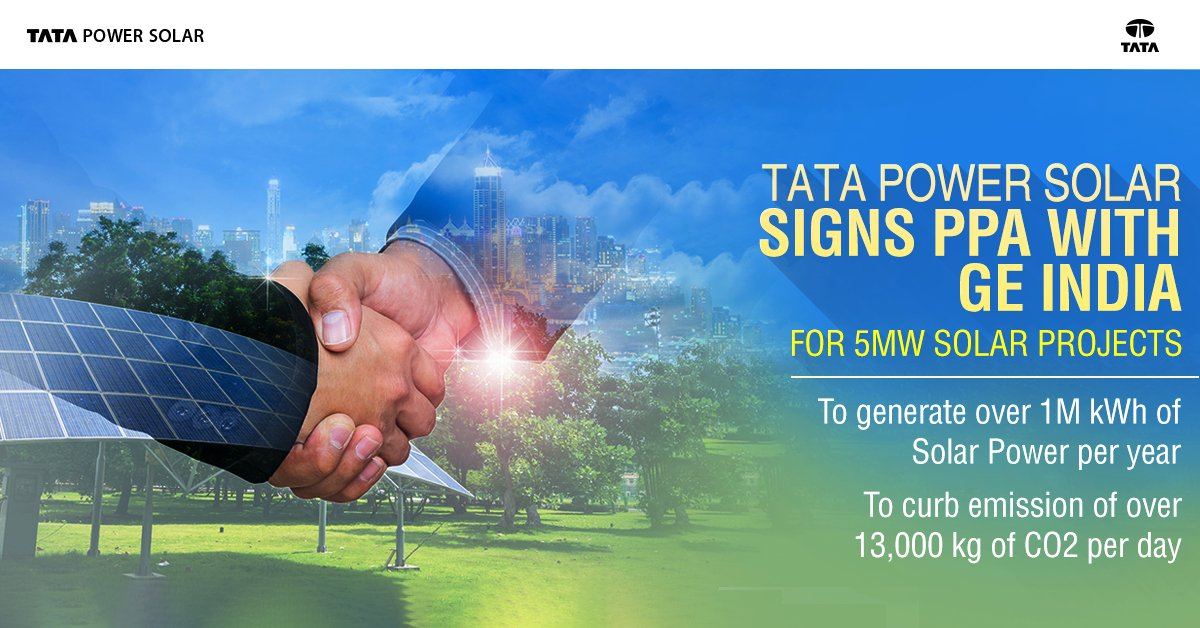 Tata Power Solar On Twitter Tatapowersolar Signed A Power