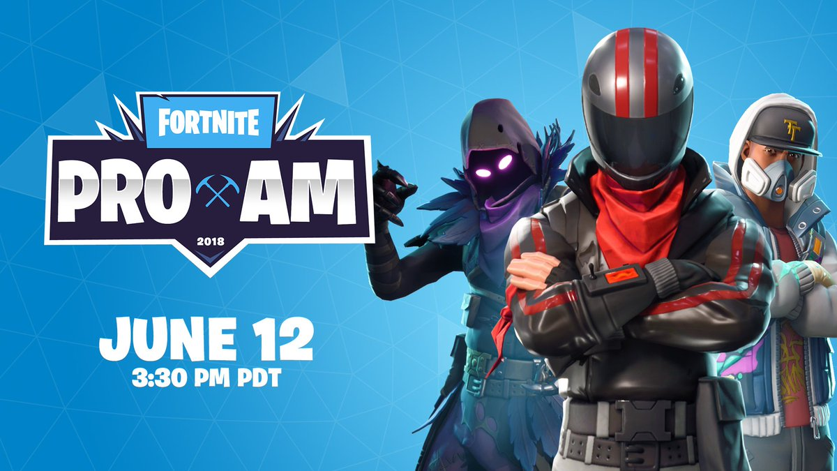 The Fortnite Celebrity Pro-Am premieres today at 3:30PM PT! Watch the #FortniteProAm right here on Twitter.