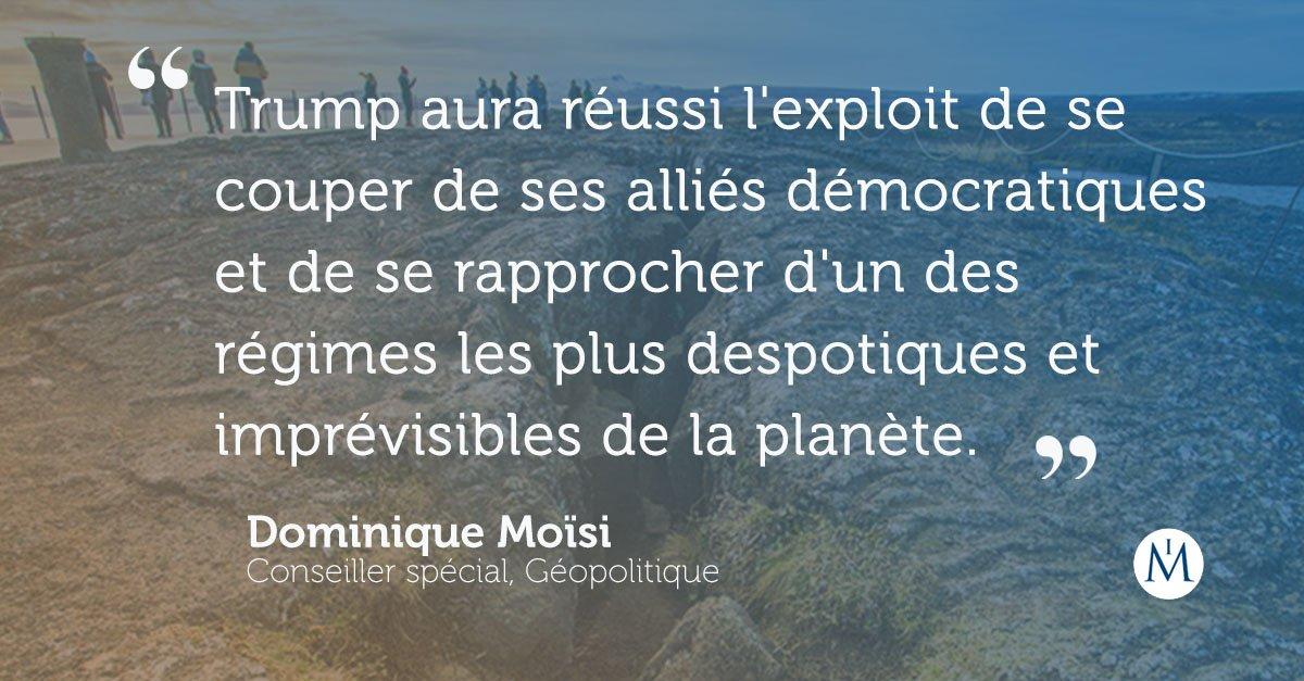 🇺🇸🇰🇵 #TrumpKimSummit : décryptage des bouleversements diplomatiques avec notre spécialiste Dominique Moïsi. https://t.co/ekvqCWaoJe