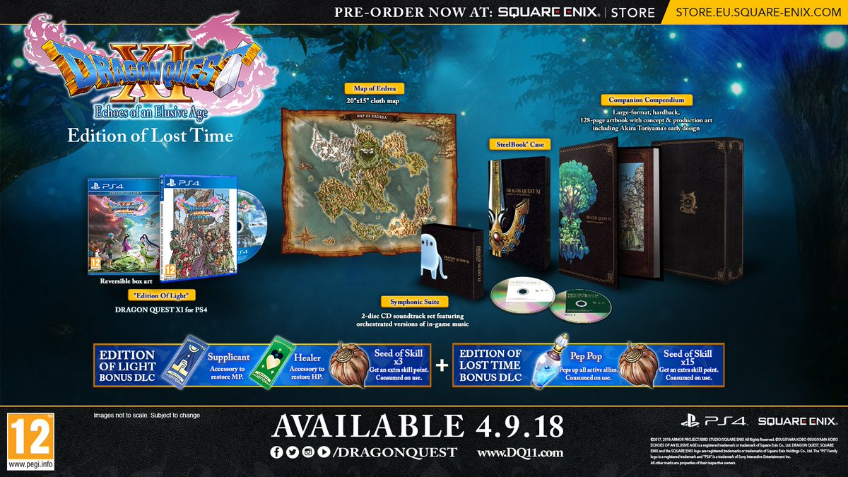 ICYMI the #DQXI Edition of Lost Time, which is exclusive to the Square Enix Store, is available to pre-order right now! 👉 sqex.link/DQXIEoLT