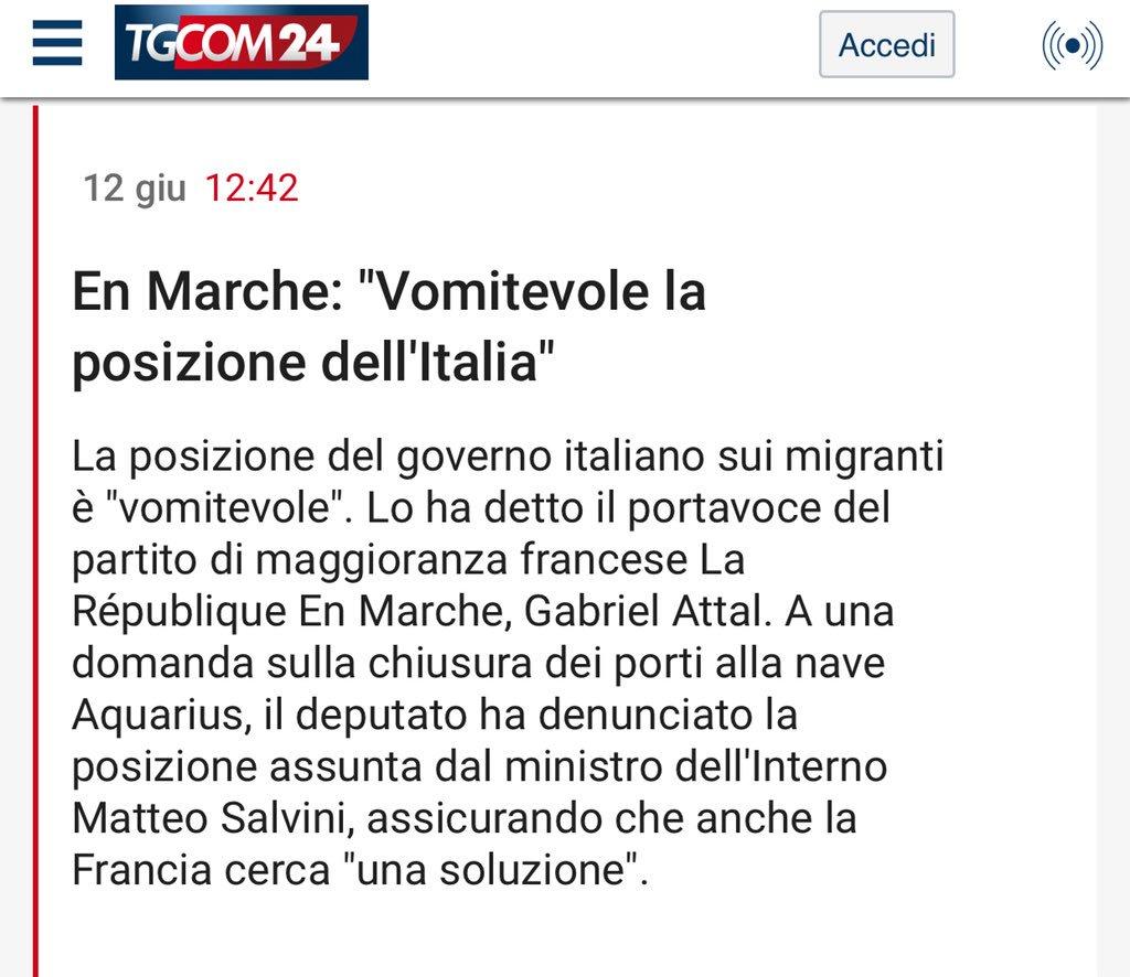 """Alla Francese Posizione francesca totolo on twitter: """"@gabrielattal, portavoce del"""
