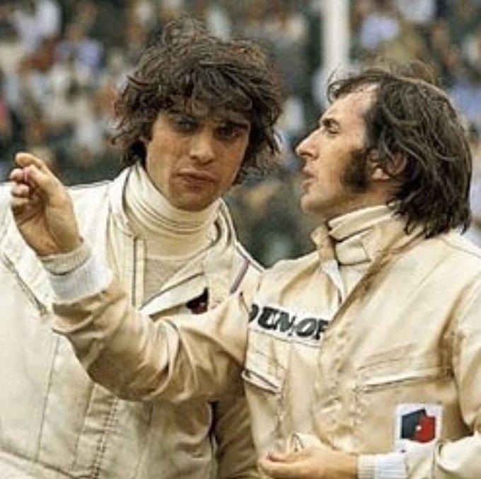 Francòis Cevert and Jackie Stewart   Happy Birthday Sir Jackie