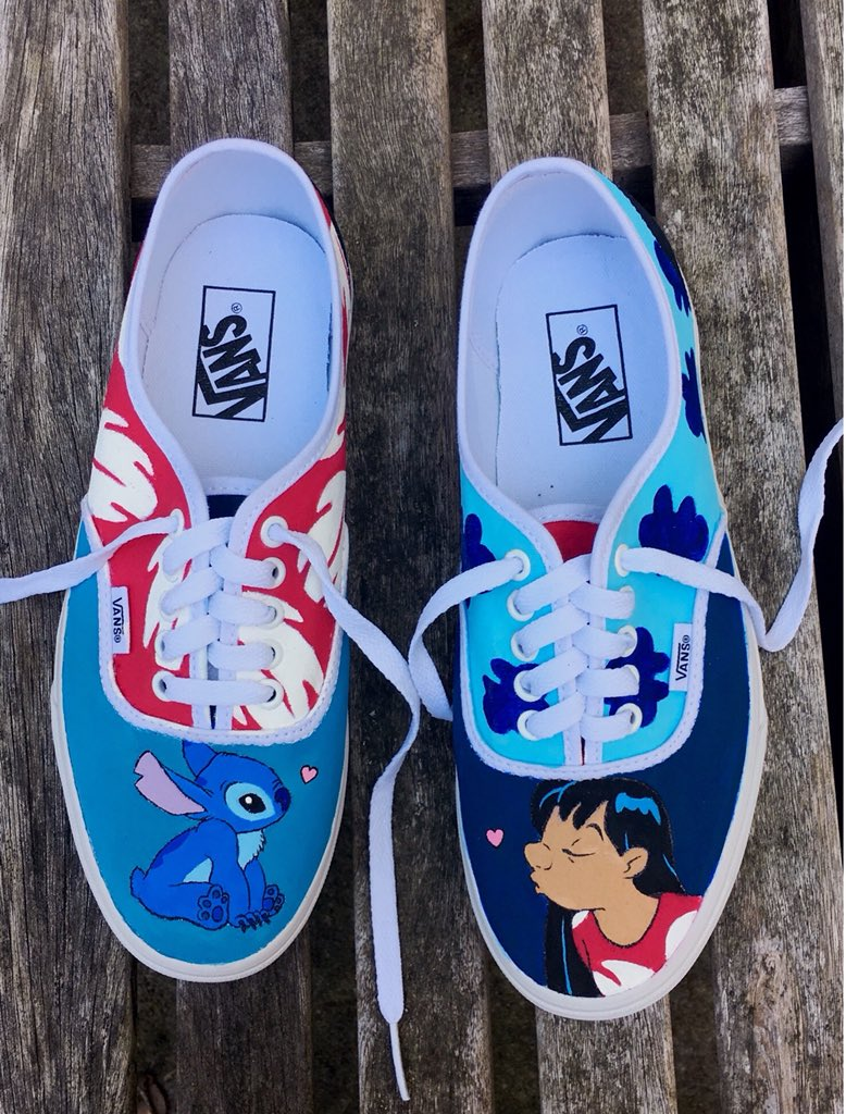 fe17ce8009d These are some Lilo and Stitch Vans I was commissioned to paint. If you re  interested in some custom shoes of your own