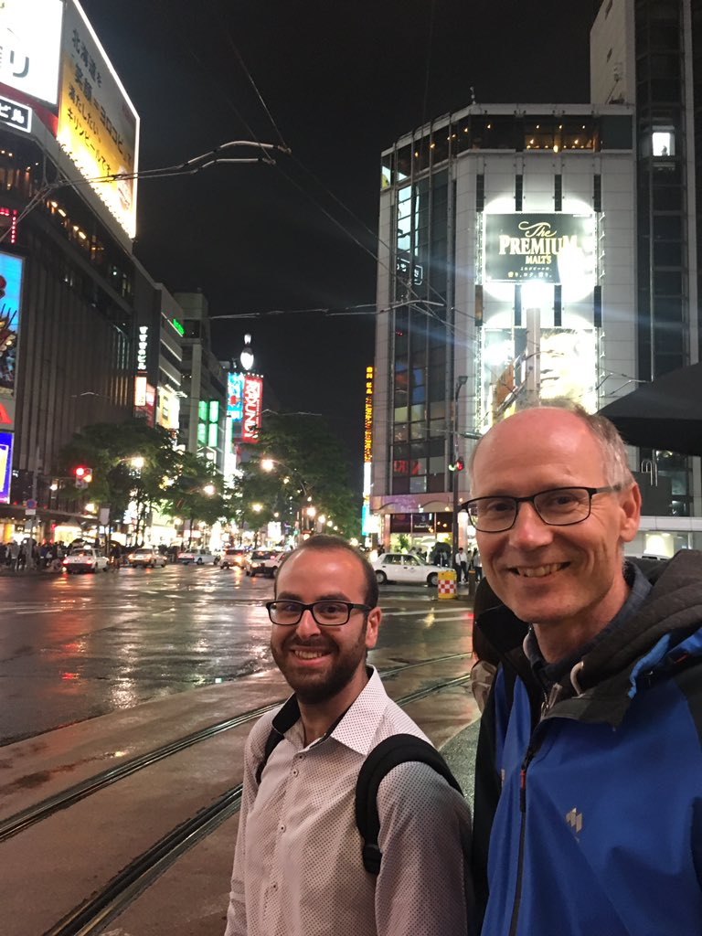 With Jean-Gabriel an Dag at the #ISOPE conference in Sapporo. Looking forward to the environmental assisted fracture session tomorrow. First some food!#ISOPE2018