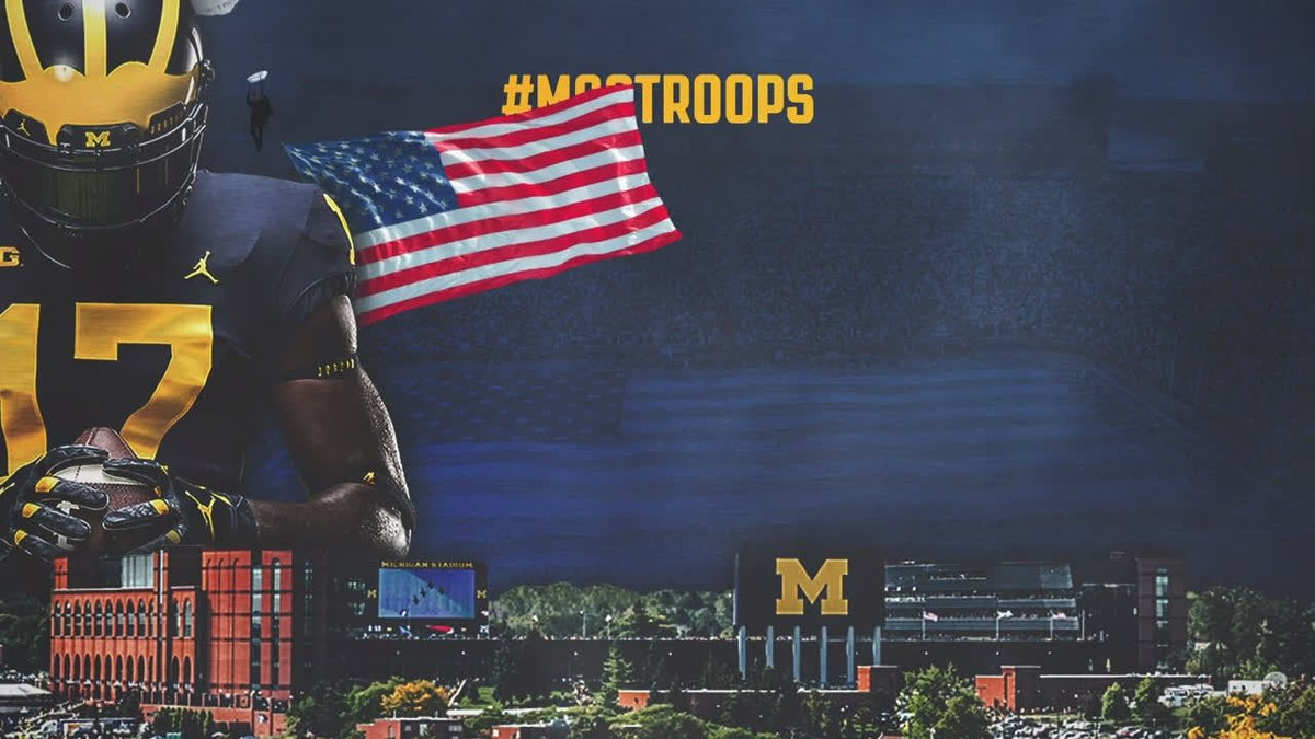 We're on our way to 1,000 @UMichFootball tickets donated to active duty and veterans of the armed services, thanks to you and @Toyota. DONATE » myumi.ch/6v5em #GoBlue | #MGoTroops 〽️🇺🇸