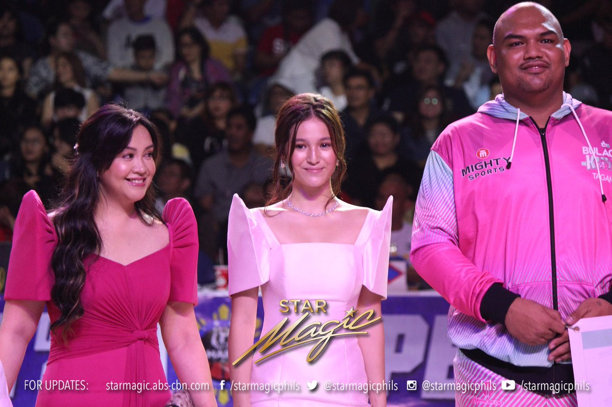 Gerald Anderson, Barbie Imperial and Kaye Abad during the opening ceremony of Maharlika Pilipinas Basketball League for more please visit facebook.com/starmagicphils or starmagic.abs-cbn.com