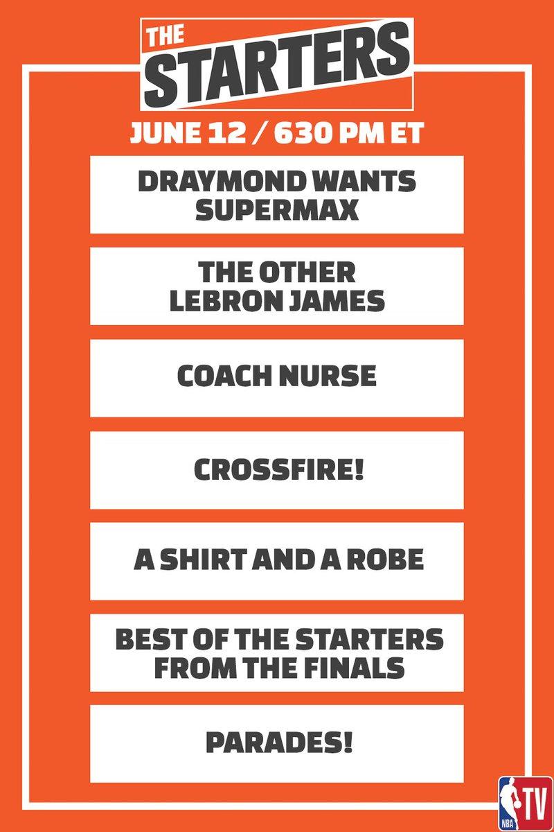 Tonight on #TheStarters at 630pm ET on @NBATV: