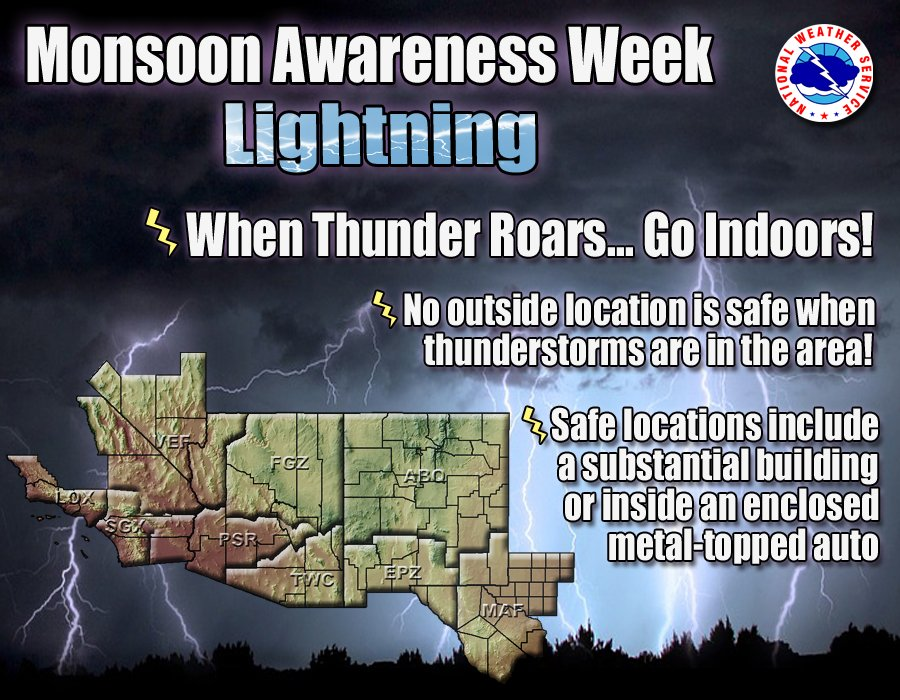 NWS El Paso On Twitter Lightning Makes Every Single Thunderstorm A Potential Killer Whether The Storm Produces Bolt Or Ten Thousand Bolts