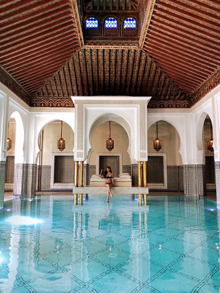 Felt like a princess beside this heavenly pool, Morocco. ????