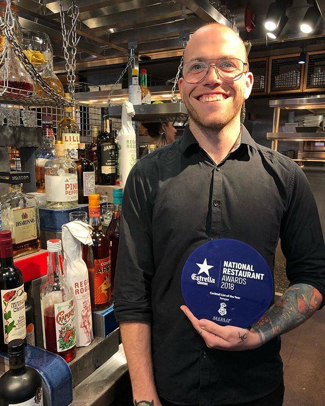 Congratulations @temperldn on winning Cocktail List of the Year! Well deserved 🍾#nationalrestaurantawards  #teamtemper #temperlondon