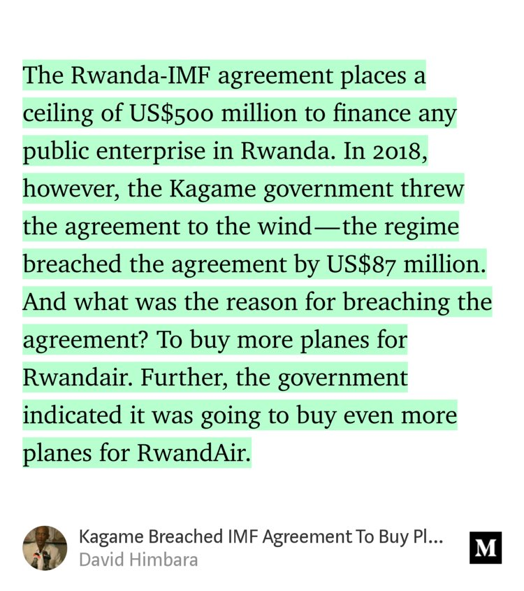 David Himbara On Twitter Kagame Breached Imf Agreement To Buy