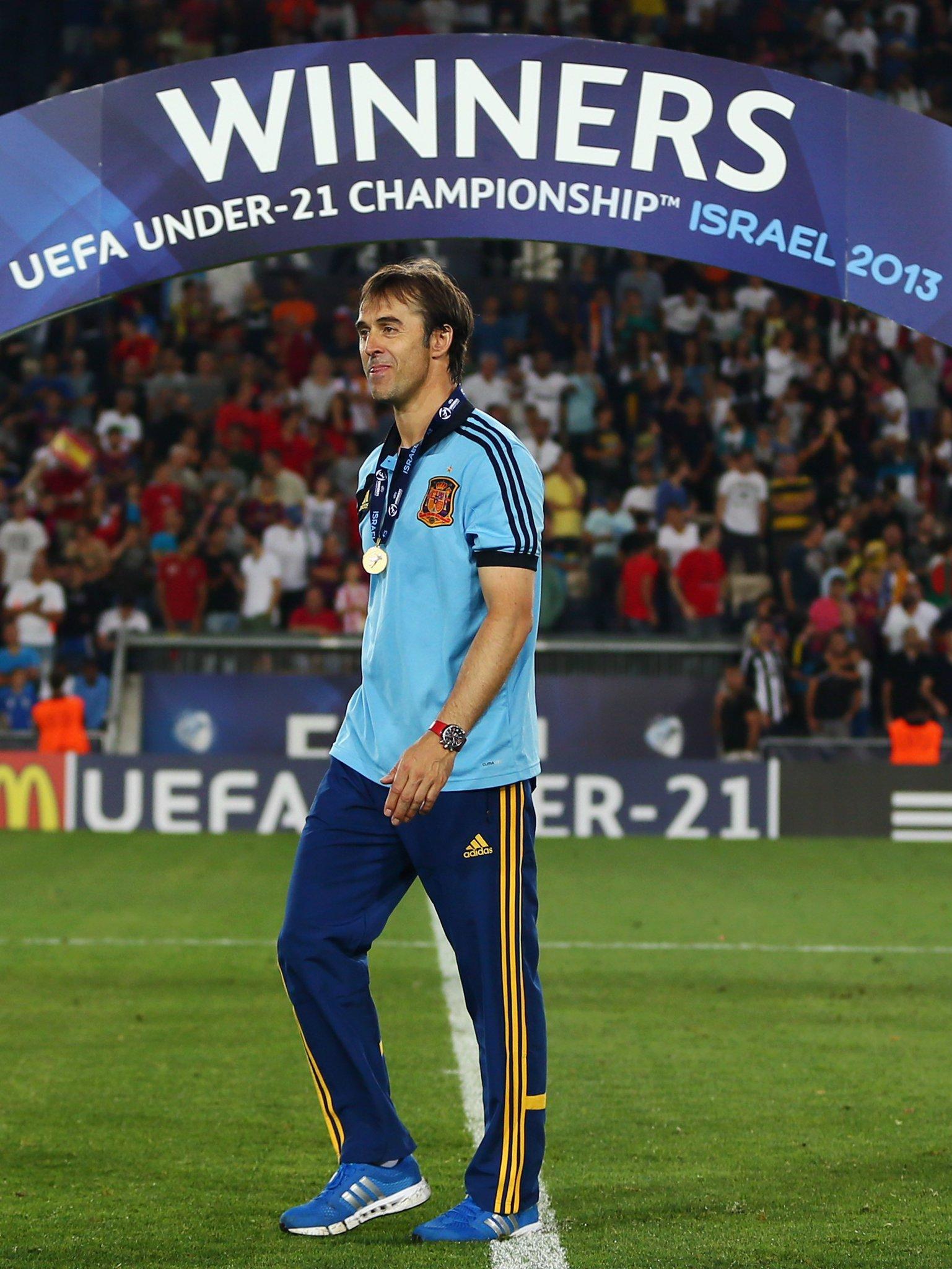 ���� Julen Lopetegui as Spain coach:  2012 #U19EURO �� 2013 #U21EURO �� 2018 World Cup? ��  #UCL https://t.co/yslDsstzOF