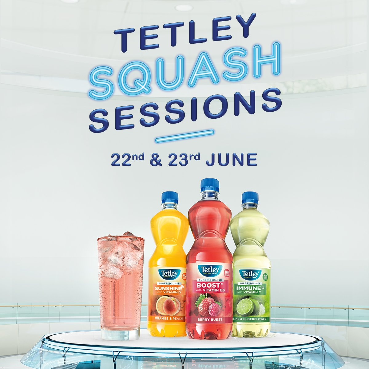 In need of a vitamin boost just in time for summer? Get your tickets to London's first Squash Sessions featuring Soul Sisters Fitness and @RHNutrition and plenty of vitamin boosting treats throughout the day! http://bit.ly/2JOEkpm#TetleySquashSessions …