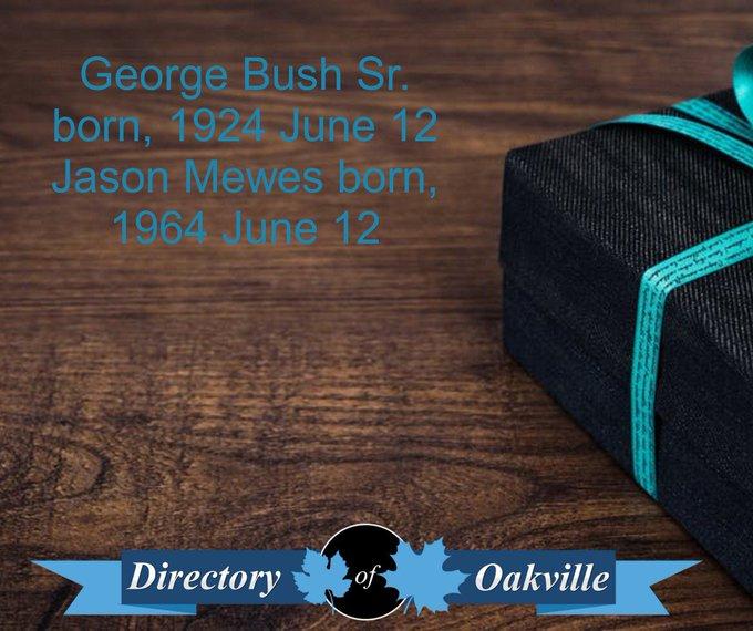 Happy Birthday! George Bush Sr. born, 1924 June 12 Jason Mewes born, 1964 June 12