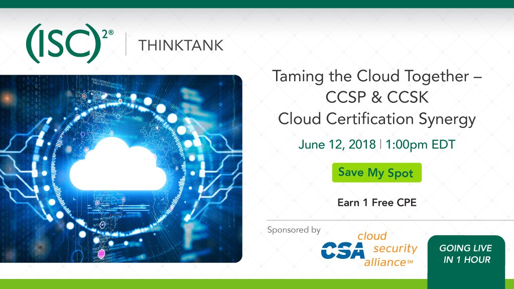 Isc2 On Twitter Were Discussing Ccsp Ccsk Cloud