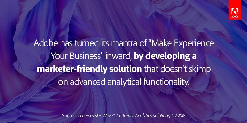 It feels good to be a Leader. See why Forrester named us a leader in the Customer Analytics Solutions Wave: adobe.ly/2Mk9ljz
