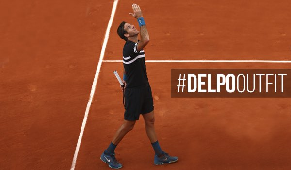 In gratitude for your support, Im giving away the outfit I wore at #RolandGarros. Who wins? The one who leaves the most creative comment on which is the most thrilling match that I ever played. The winner will be announced on Friday! . #DelpoOutfit #Delpo
