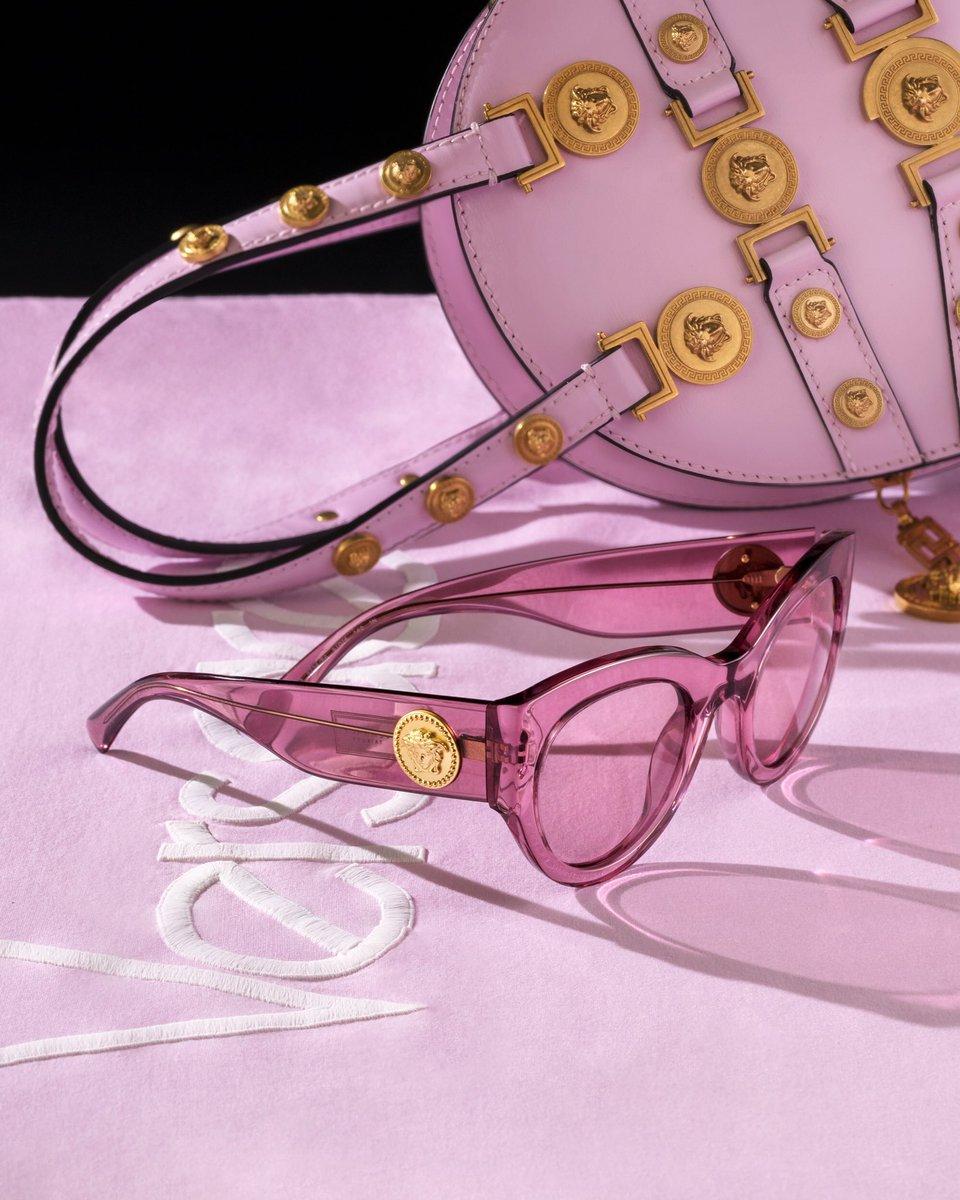 Think pink, think Tribute. #VersaceEyewear Shop the #VersaceTribute sunglasses now: https://t.co/QMHblkVOvU