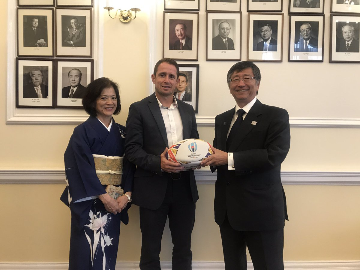 Thank you @ShaneWilliams11 for joining us this evening to promote the Rugby World Cup 2019! #RugbyWorldCup #RWC19 #Japan2019 #VisitJapan<br>http://pic.twitter.com/aYrcHQcAnY