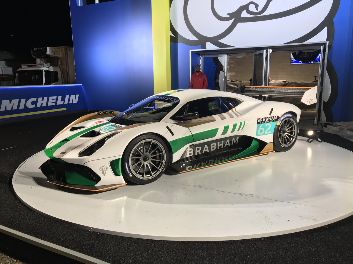 The Sensational Brabham Bt62 Makes Its European Debut This Week At 24hoursoflemans See Car In New Racing Inspired Livery