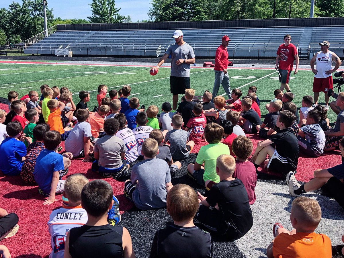 The future teaching the future future future at his QB camp in Mentor, OH.