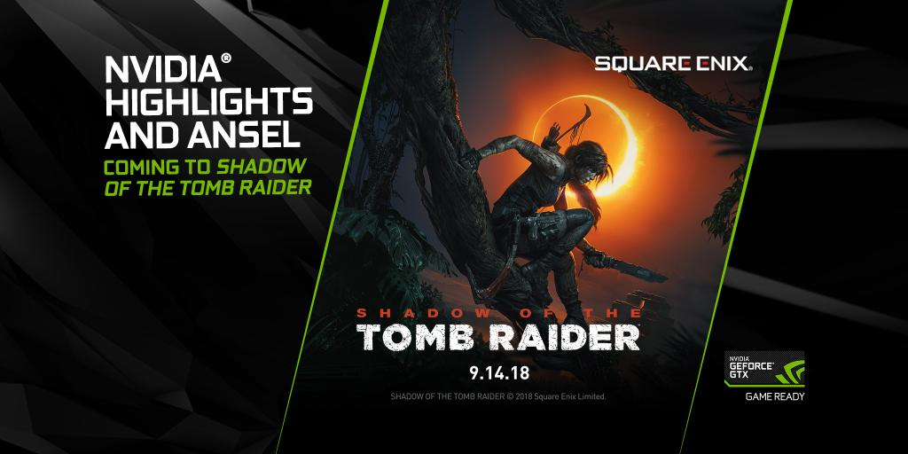 NVIDIA Ansel and Highlights are coming to Shadow of the Tomb Raider! Learn more: nvda.ws/2JL5FZG