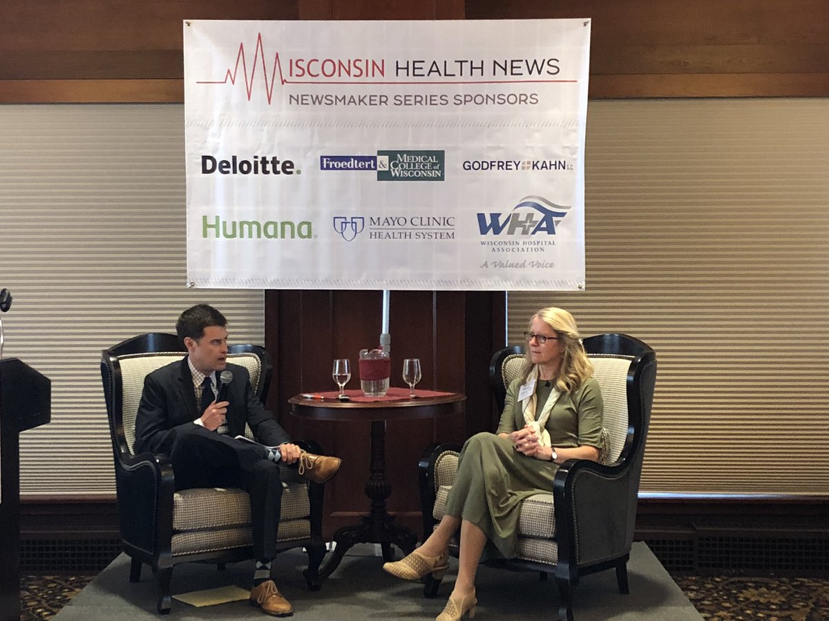 .@MayoClinic VP & @MayoClinicHS leader @GostoutMD answering questions from @WiHealthNews EIC @StummTim #WHNMayo