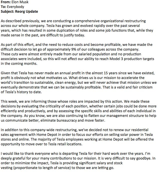 Caroline Odonovan On Twitter Via Tesla Spox Heres The Full Text